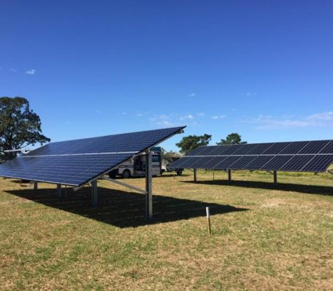 Ground Mounted Solar Panels on Farm NSW