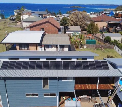 solar panel installation on rooftop south coast nsw