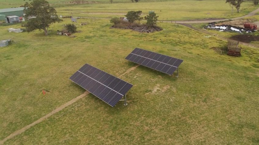 solar panels ground mounted for farmers to save on energy bills
