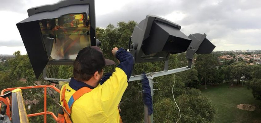 stadium light installation commercial electrical service rothwell park concord nsw