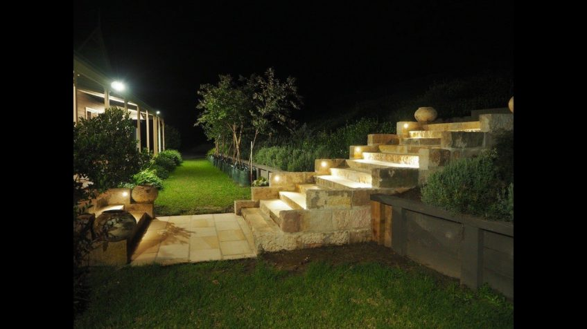 residential electrical service nsw exterior lighting on steps